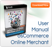osCommerce online merchant User Manual