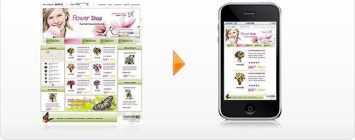 AlgoZone, mobile templates for your shopping site