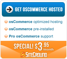 Special hosting offer with oscommerce template purchase