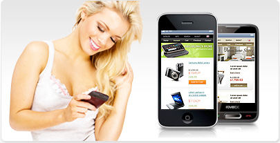 Ecommerce Mobile Templates for Iphone, Android and Symbian